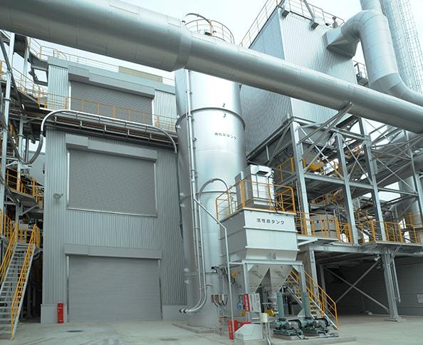 消石灰タンク・活性炭タンク画像